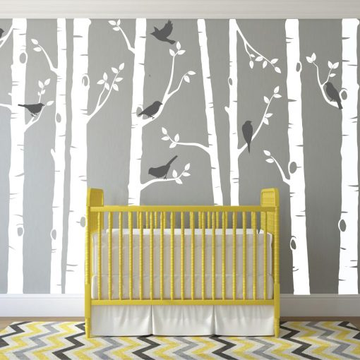 Birch Tree Wall Sticker Set