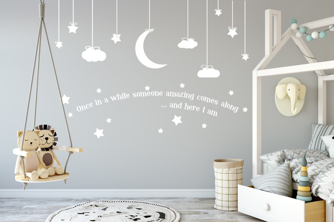 Nursery Sticker Wall Decor Childrens Baby Room Stickers