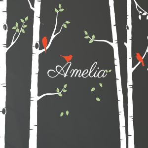 Tree Wall Sticker with Personalised Name