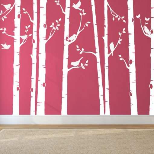 White bird tree wall sticker