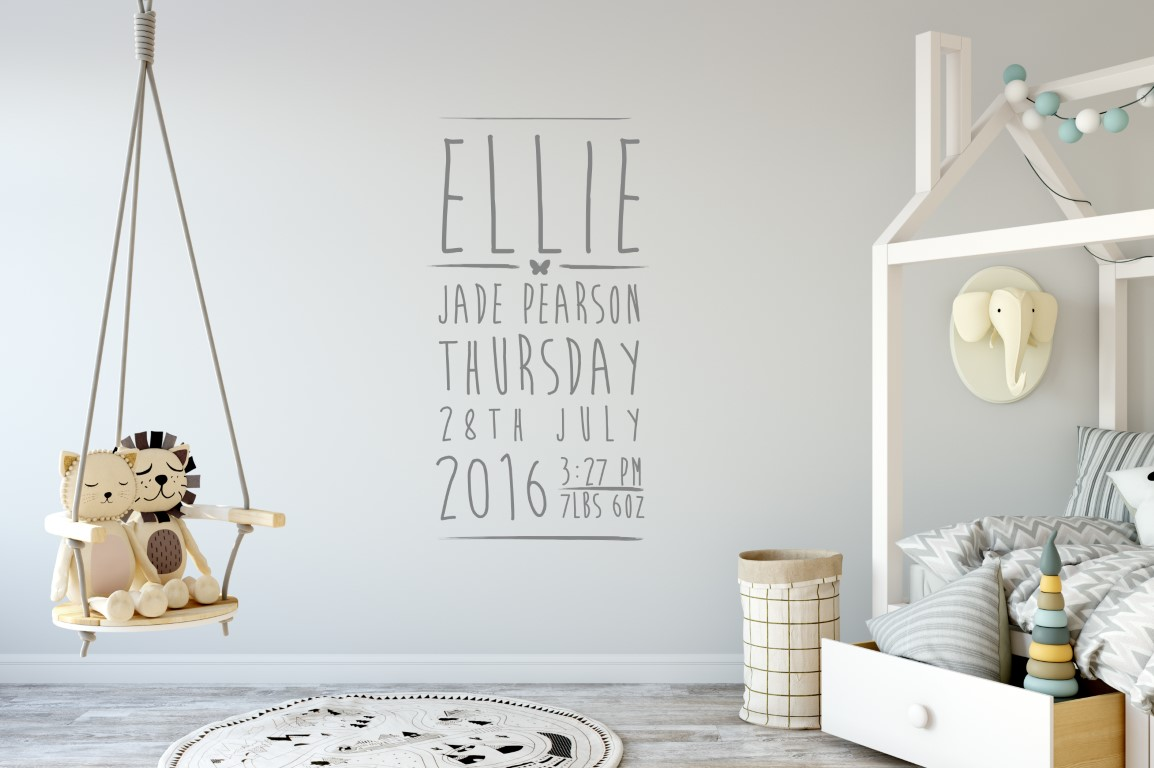 Personalized Baby Name Wall Stickers Bahuma Sticker