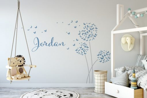 butterfly dandelions name 1 Wall Sticker