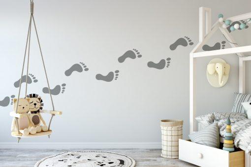 footprints 3 Wall Sticker