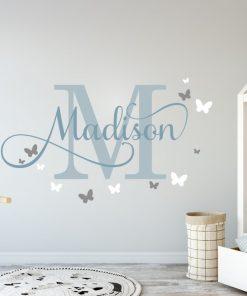 girls name with butterflies 2 Wall Sticker