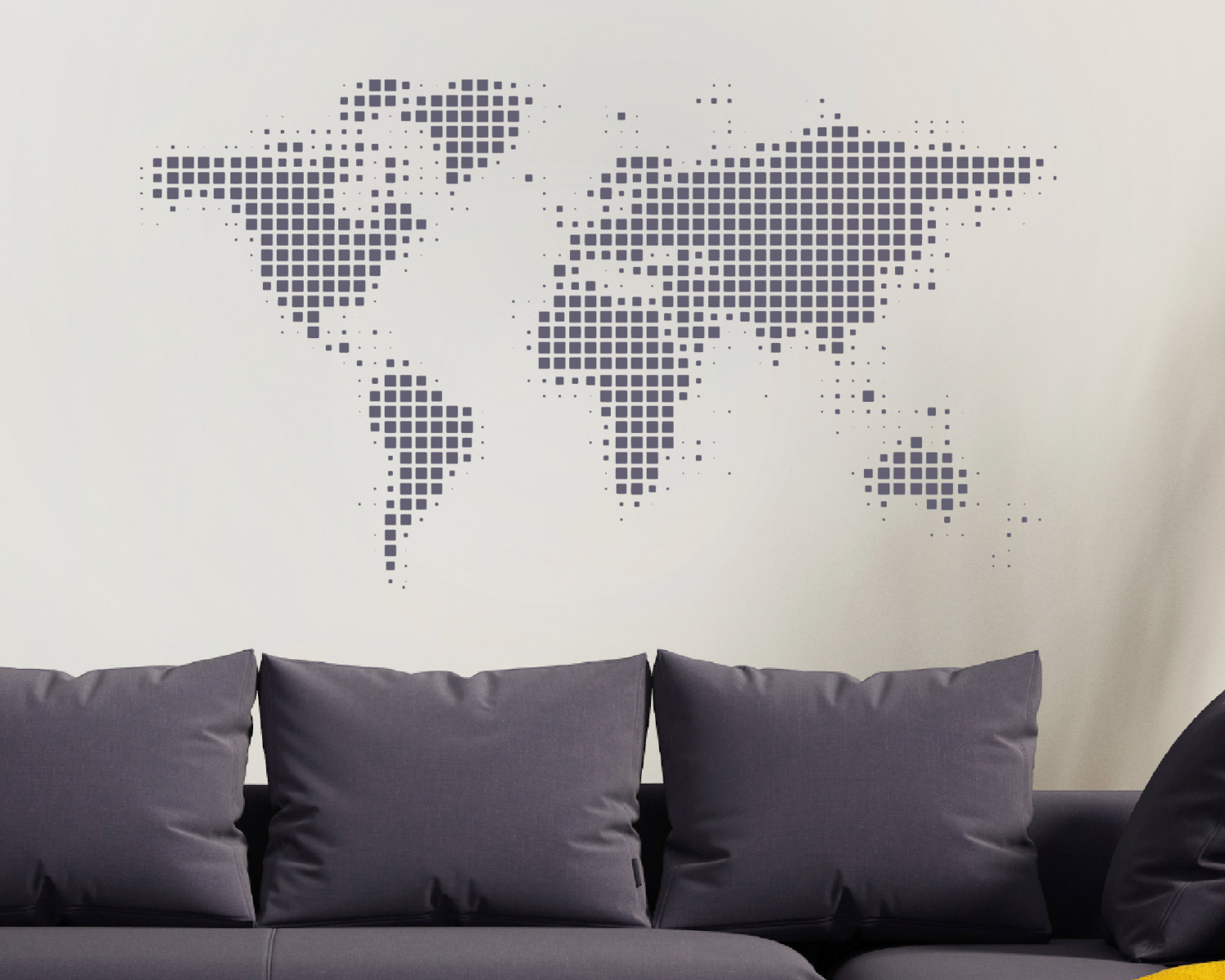 Map Of The World Decal.World Map Wall Sticker World Wall Sticker World Map World