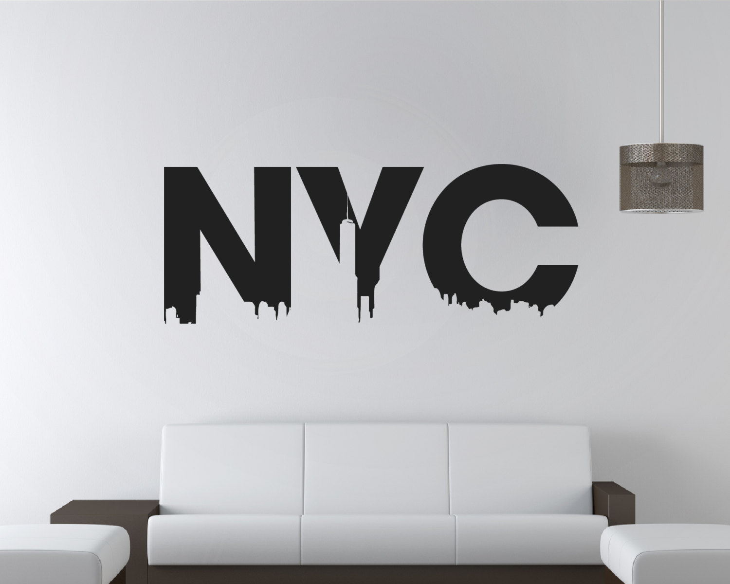 nyc wall sticker nyc stickers nyc sticker new york city wall art new york wall mural. Black Bedroom Furniture Sets. Home Design Ideas