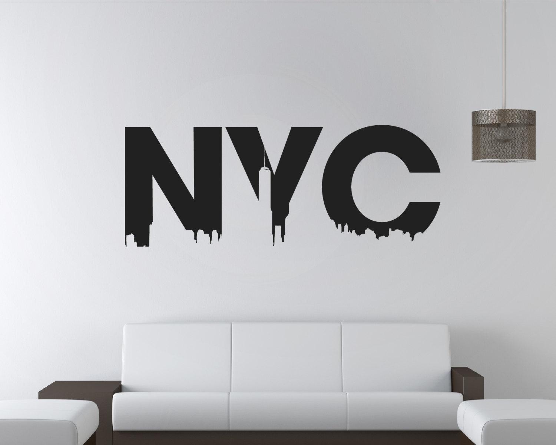 Nyc wall sticker nyc stickers nyc sticker new york for Sticker mural new york