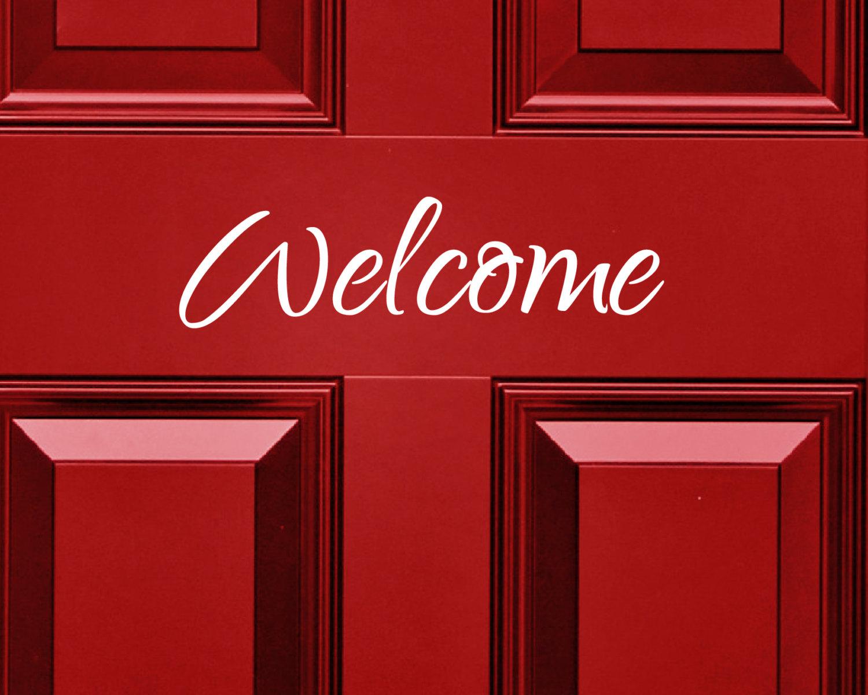 Welcome Door Sticker Door Sign Door Sticker Door