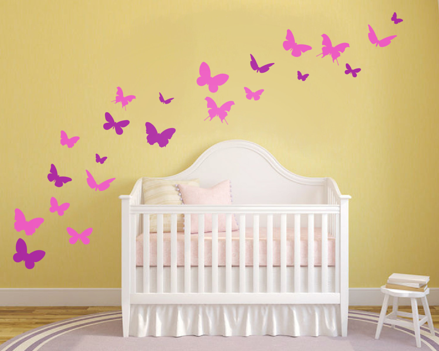 Set of Butterfly Wall Stickers - Butterfly Decor - Butterfly Wall ...