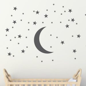 moon and stars wall stickers wall murals wall art stickers