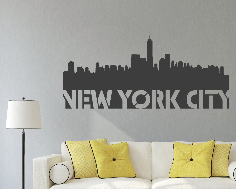 new york city skyline wall art new york city new york. Black Bedroom Furniture Sets. Home Design Ideas