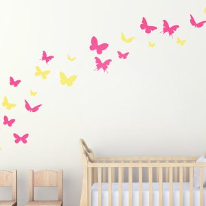 Set Of Butterfly Wall Stickers   Butterfly Decor   Butterfly Wall Stickers    Butterfly Wall Art   Butterfly Art | Urban Artwork