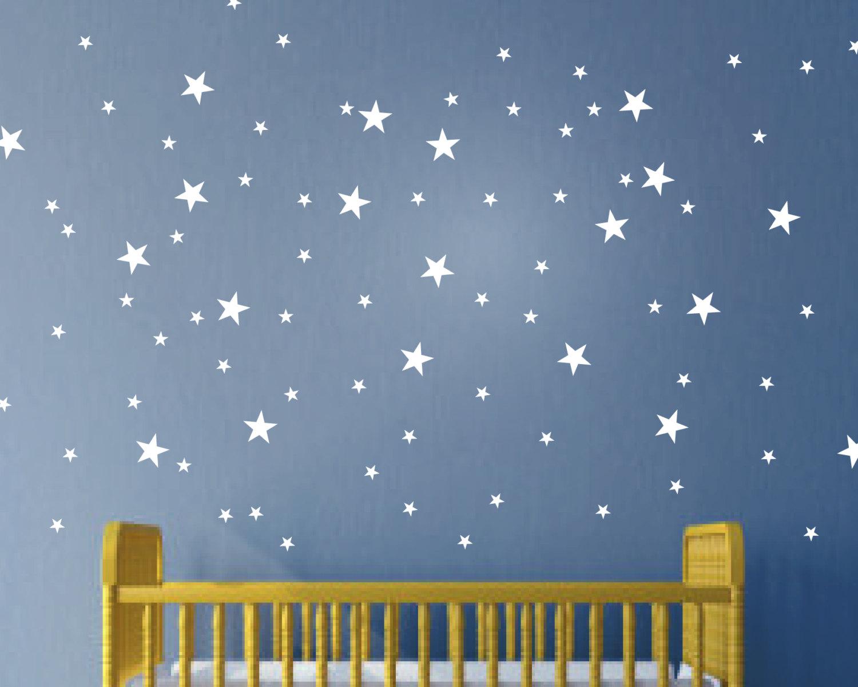 Moon and Stars Wall Art - Wall Art Stickers - Wall Art - Wall ...