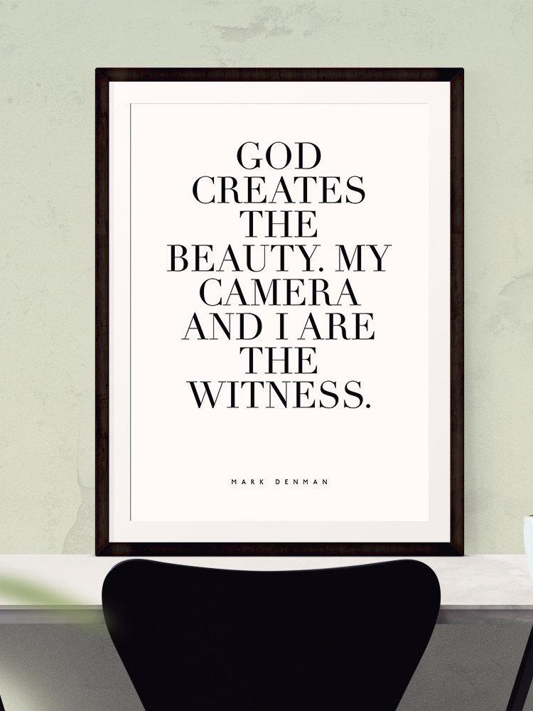GOD CREATES the beauty Wall Art - Bedroom Decor, Master Bedroom ...