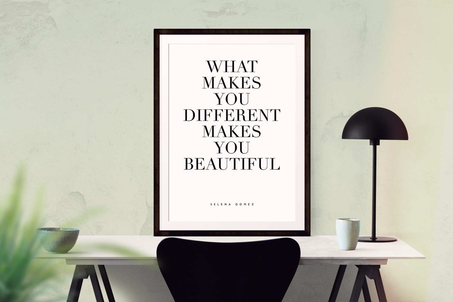 What Makes You Different Makes You Beautiful Quote Wall