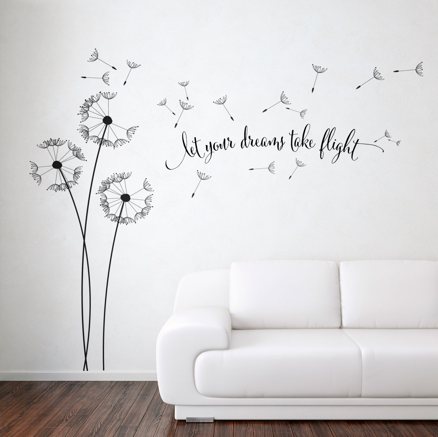 Bon Dandelion Blowing With Quote Wall ...