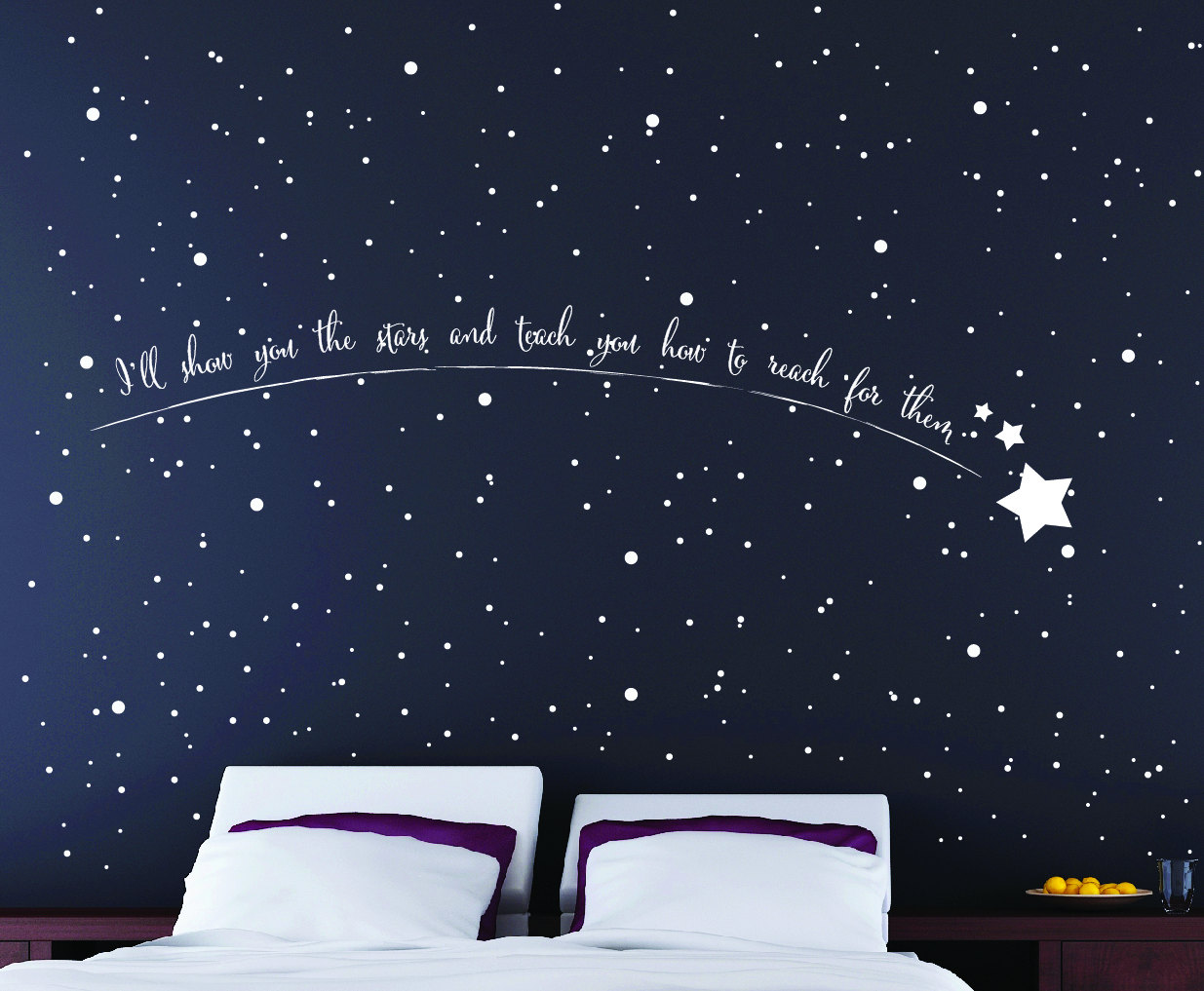 shooting star wall art star wall stickers star wall art star wall stickers star wallpaper. Black Bedroom Furniture Sets. Home Design Ideas