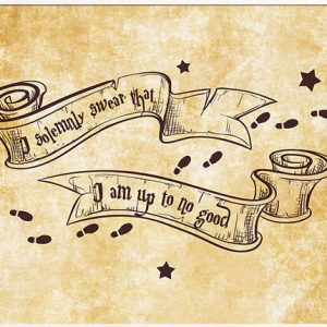 I Solemnly Swear That I Am Up To No Good Potter Print