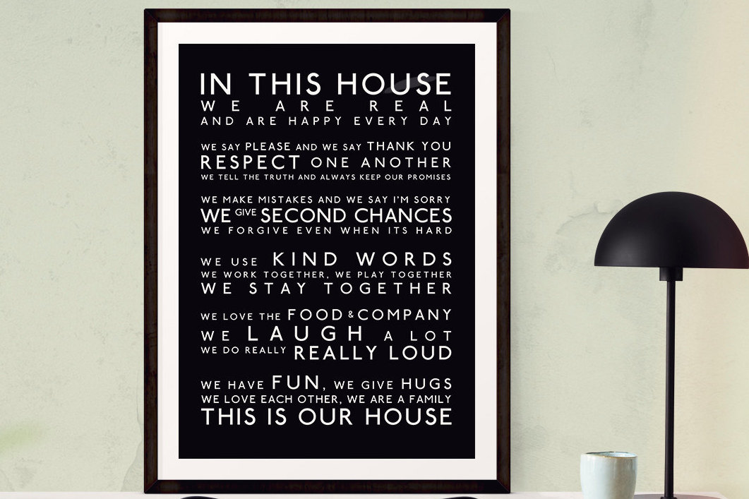 In This House We Do Geek Art In This House Art Print