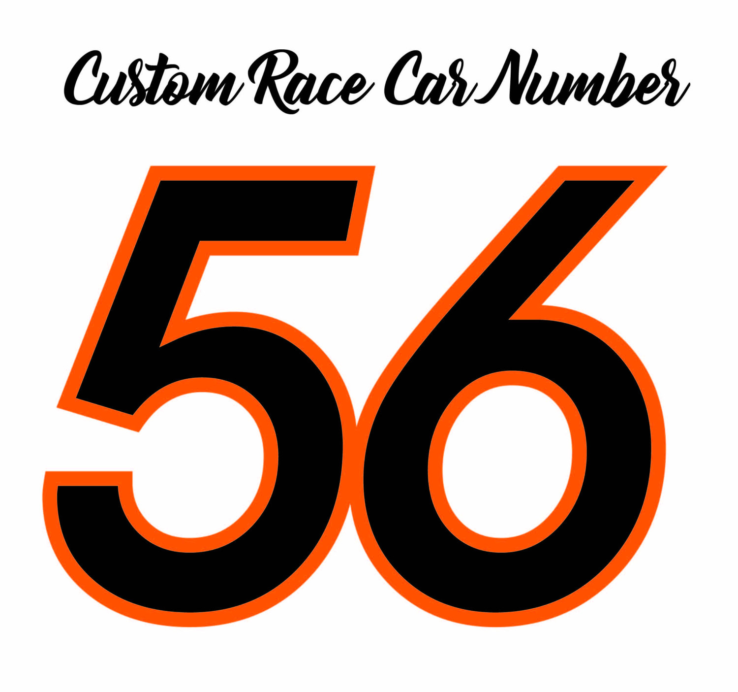 Race Car Number Package Racing Stickers Race Number Kit Racing