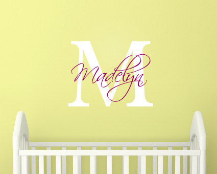 Wall Stickers Nursery- Wall Stickers for Girls- Personalised Girls ...