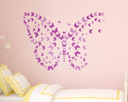 butterfly wall sticker- girls wall art - kids wall sticker - wall