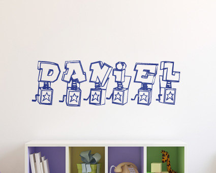 Boys Wall Sticker- Personalised Boys Wall Art - Kids Wall Sticker ...