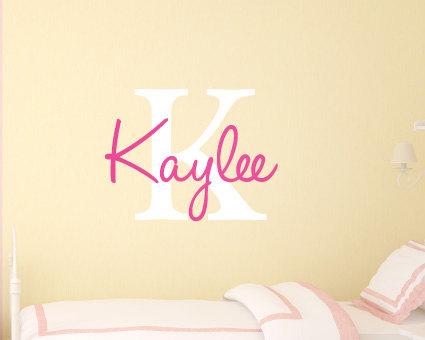 Baby Names - Custom Stickers - Vinyl Wall Stickers - Girls Bedroom ...