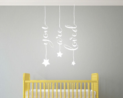 Cute Hanging Words Wall Art - Wall Art Stickers - You Are Loved ...