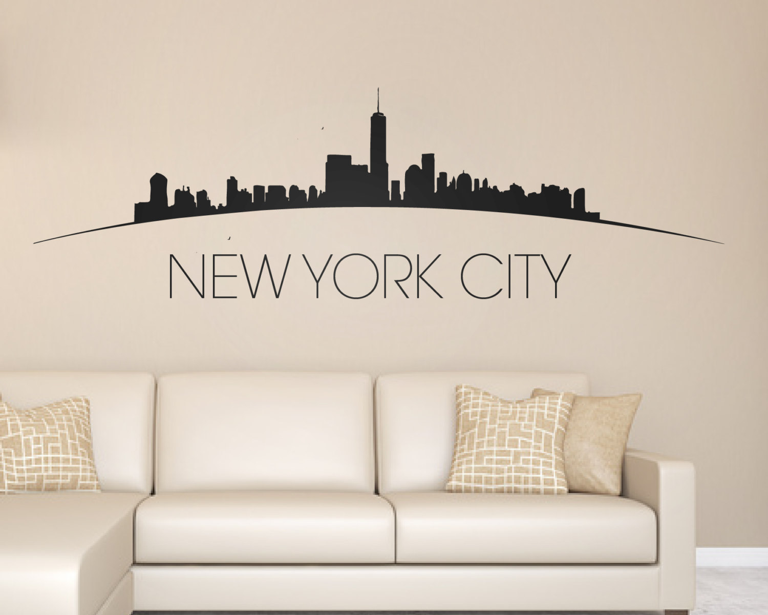 New York City Skyline Wall Sticker New York Sticker New York