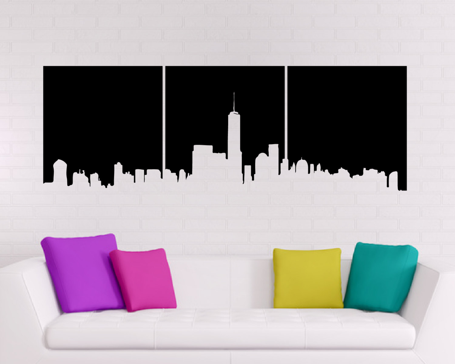 Childrens Bedroom Wall Stickers Removable New York Wall Sticker Silhouette Silhouette Of New York