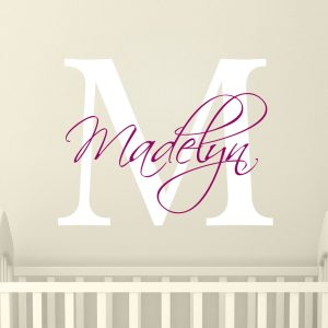 ... Wall Stickers Nursery  Wall Stickers For Girls  Personalised Girls Name  Stickers   Nursery Wall Art   Wall Art Stickers
