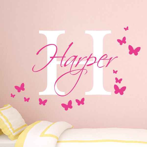 Personalised Girls Name Wall Sticker   Girls Name Wall Sticker   Baby Girl  Nursery Wall Stickers   Monogram Stickers  Wall Stickers For Kids | Urban  Artwork Part 81