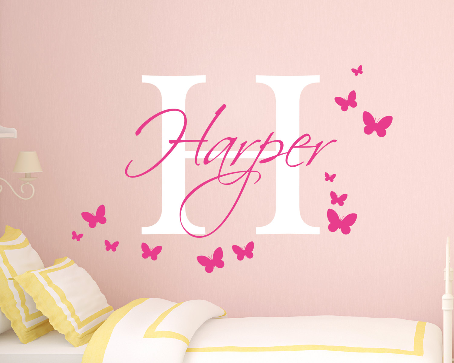 Personalised Girls Name Wall Sticker