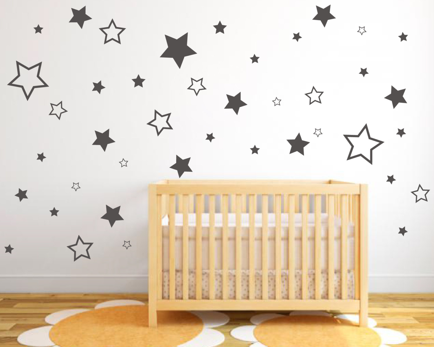 Star Wall Decor Ideas: Pack Of Star Stickers In Various