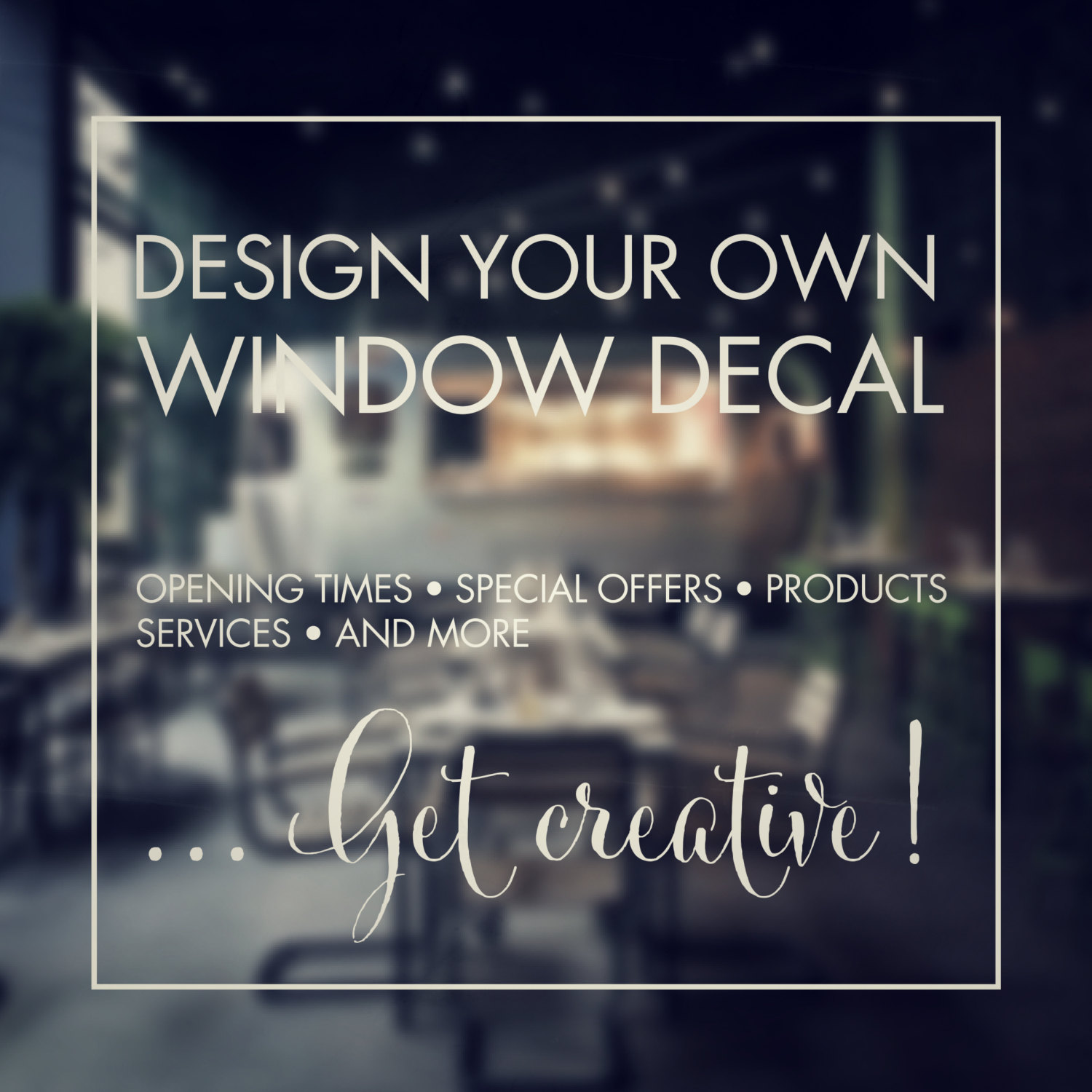 Window Stickers Design Your Own
