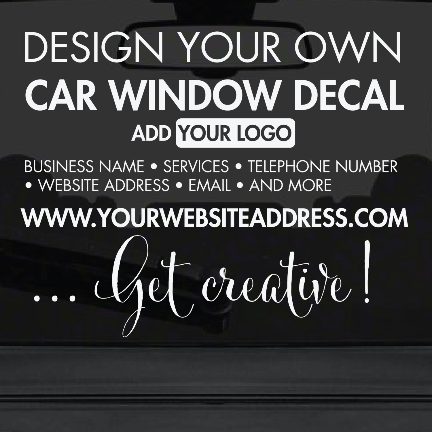 Car stickers design your own - Car Window Sticker Design Your Own Custom Made Personalised Car Window Sticker Create Your Own Car Window Stickers Urban Artwork