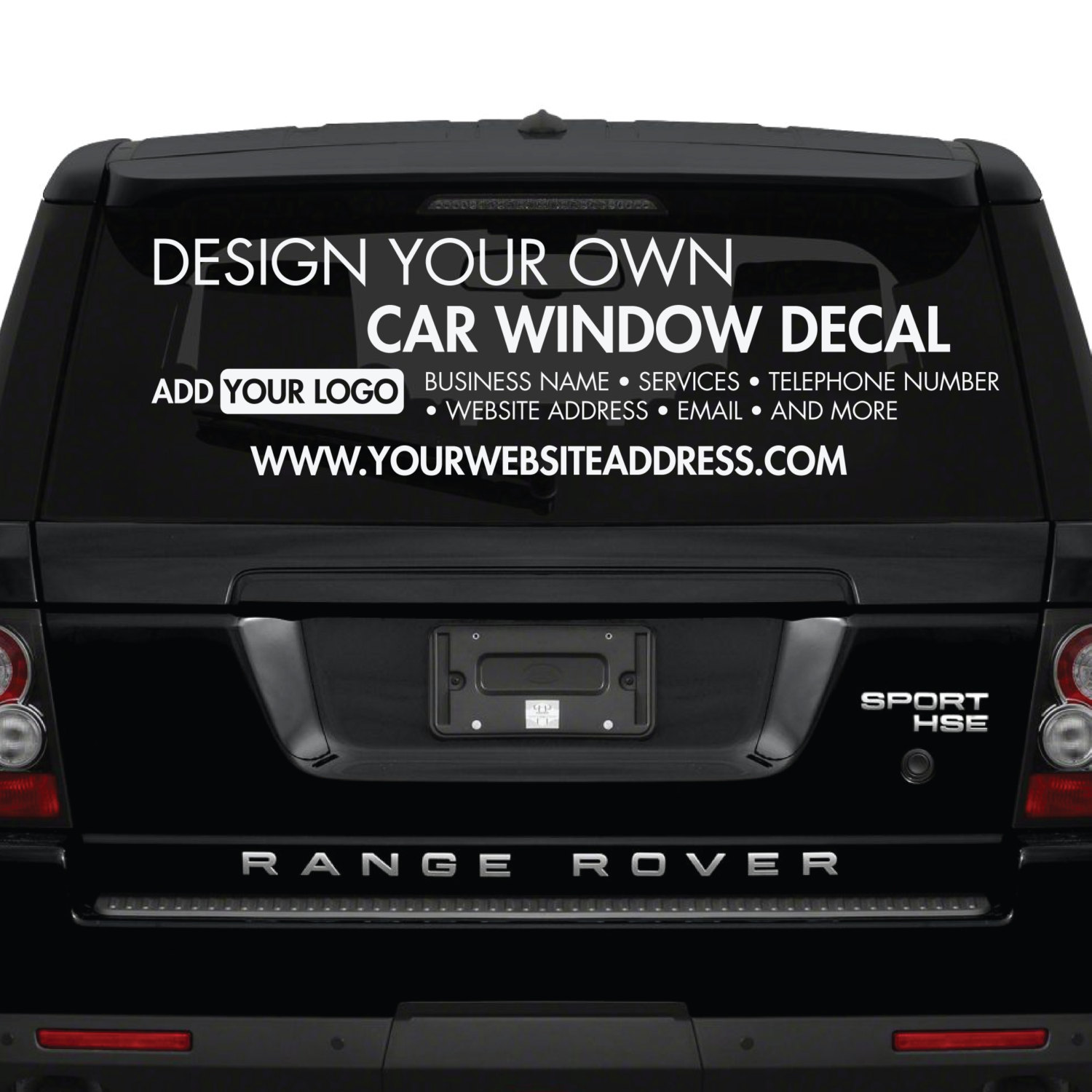Car window stickers design your own custom made for Build your own window