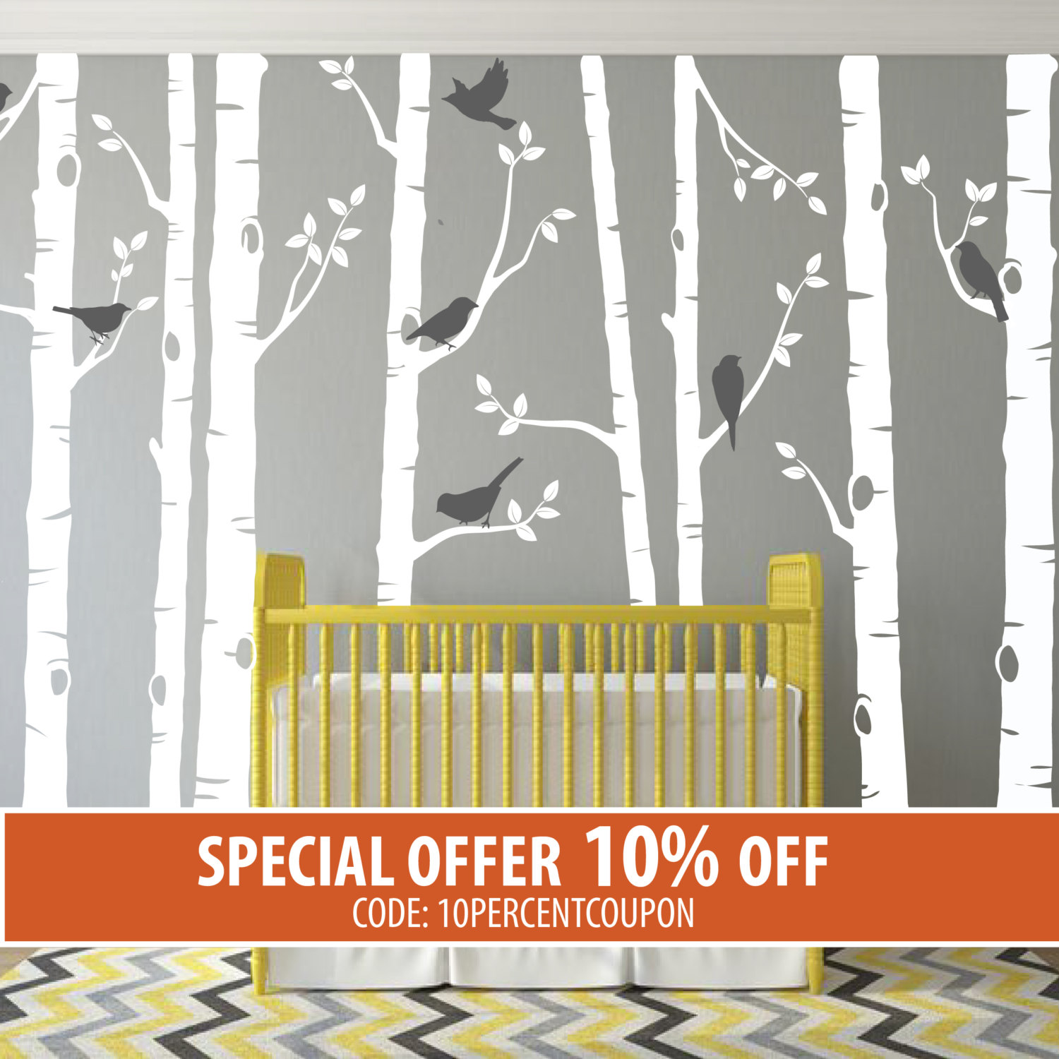 Birch Tree Wall Decal ...