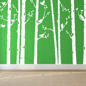 Birch Trees Decals For Colored Walls: Wall Decals, Nature Wall Decals,  Vinyl Wall Decal, Nature Wall Decal Stickers, Birch Tree | Urban Artwork