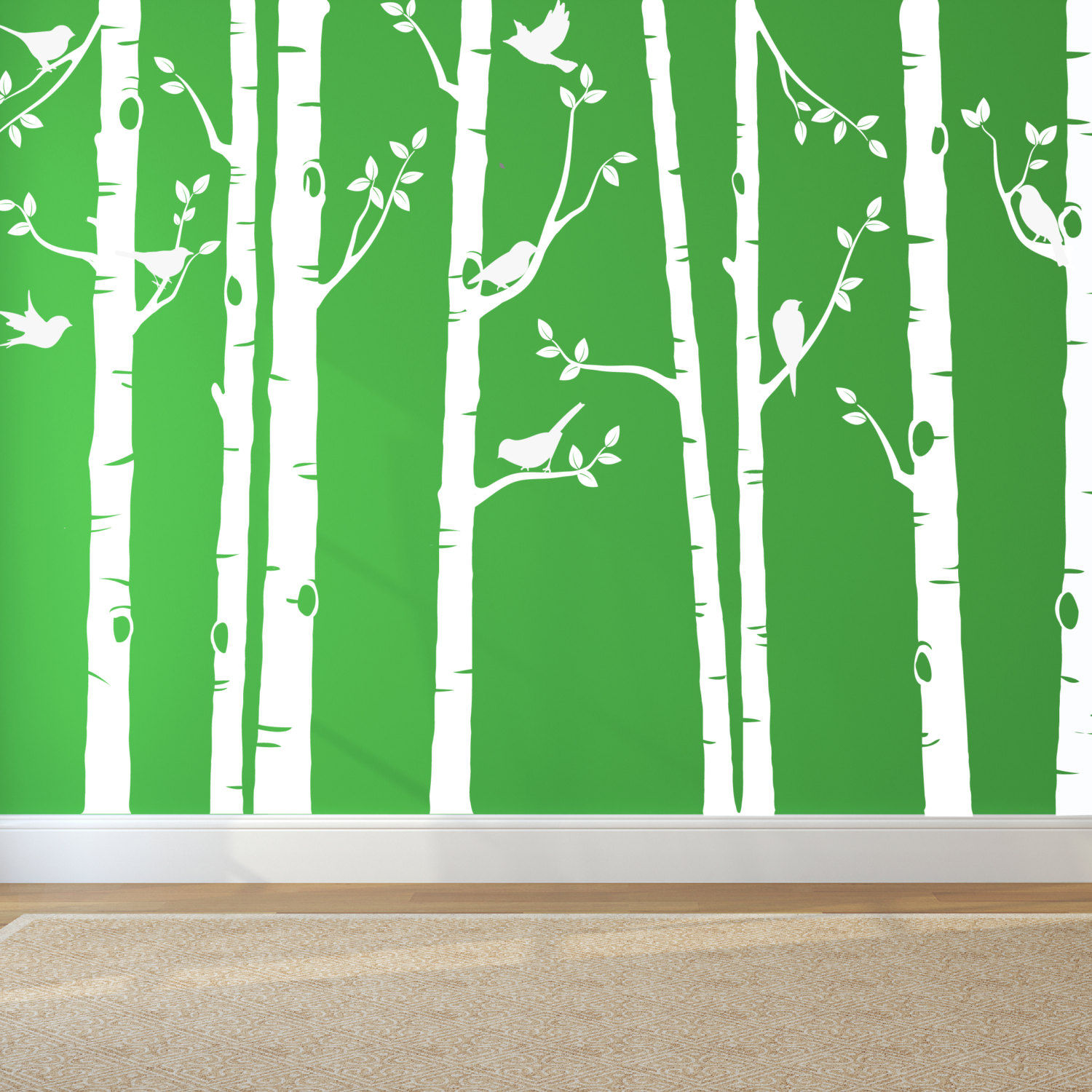 White Tree Wall Stickers For Nursery And Wall Art Decoration Urban Artwork