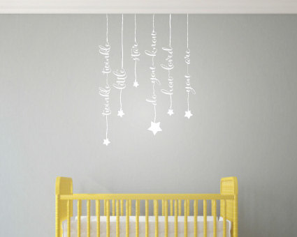 Cute Hanging Words Wall Art - Wall Art Stickers - Twinkle Twinkle ...