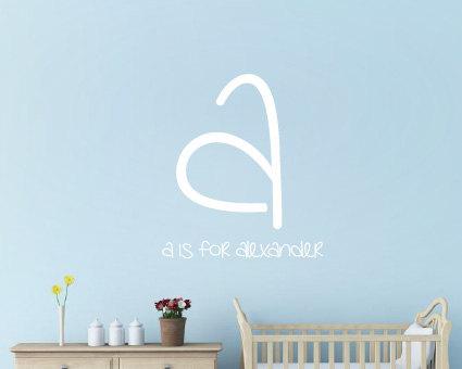Personalised Name Wall Sticker Boys Stickers Childrens Decor Baby Nursery Vinyl