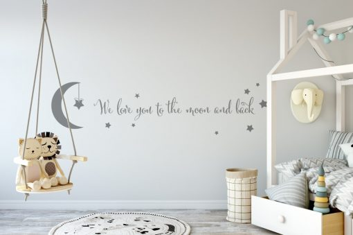 we love you to the moon and back 3 Wall Sticker