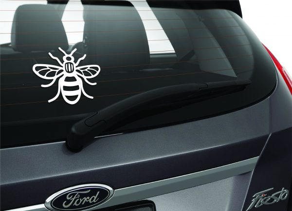 manchester bee car window sticker