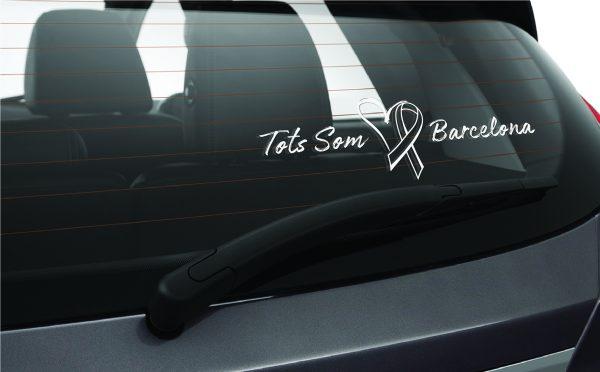 Tots Som Barcelona Car Window Sticker We Are Barcelona Car Sticker 1c-01