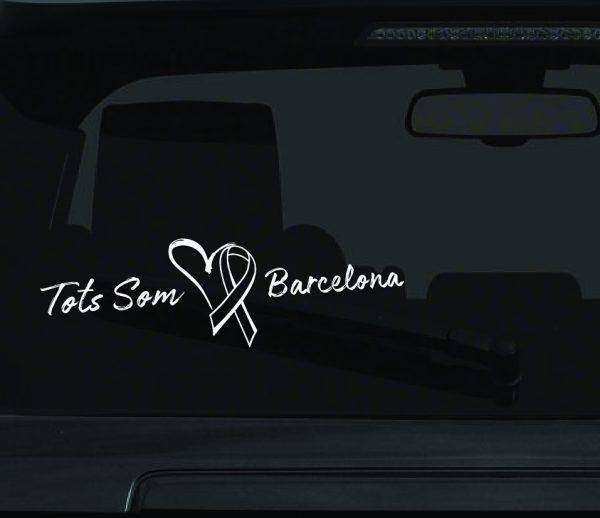 Tots Som Barcelona Car Window Sticker We Are Barcelona Car Sticker 2C-01
