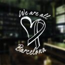 We Are All Barcelona Sticker Tots Som Barcelona Sticker Car Window