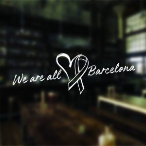 We Are All Barcelona Sticker Car Window