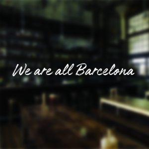 We Are All Barcelona Sticker Car Window